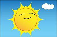 Dibujo de Sol Amarillo Sonriendo