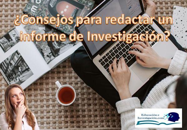 Consejos para redactar un informe de investigación