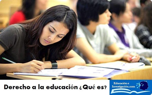 Derecho a la educación que es