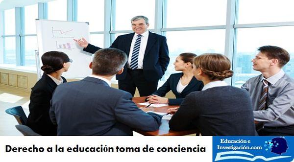 Derecho a la educación toma de conciencia