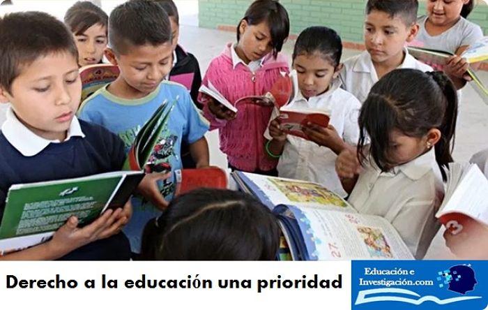 Derecho a la educación una prioridad