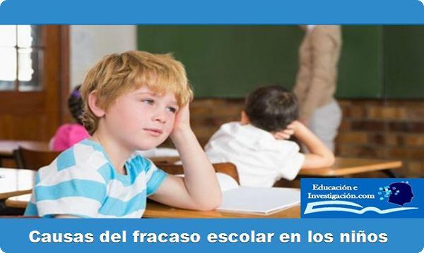 Causas del fracaso escolar en los niños