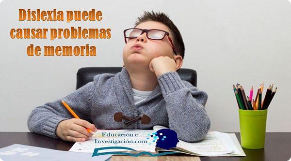 Dislexia puede causar problemas de memoria
