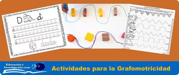 Actividades para la grafomotricidad.