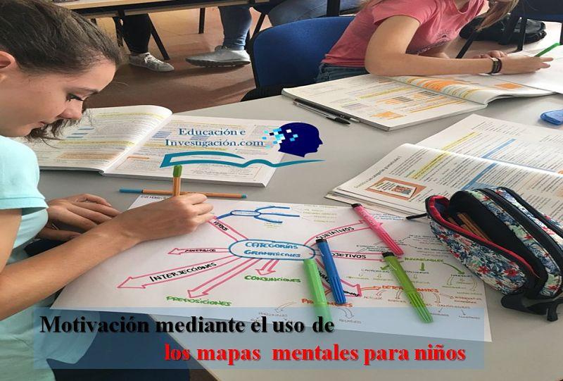 Motivación mediante el uso de los mapas mentales para niños