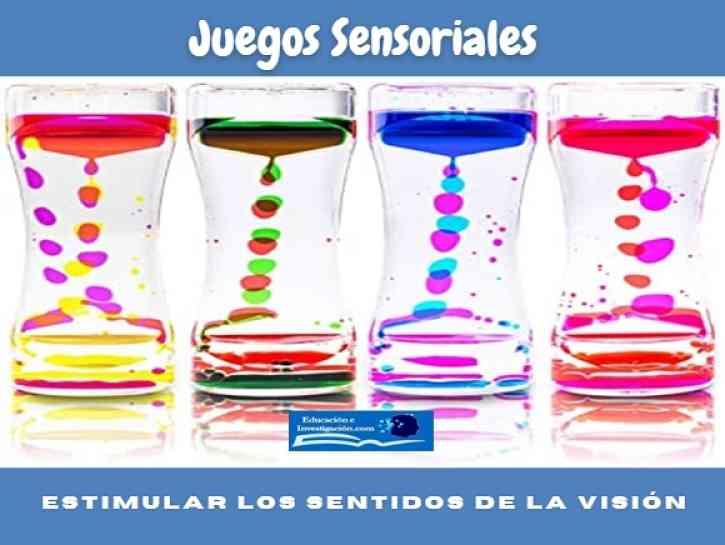 Actividades sensoriales, estimular los sentidos de la visión