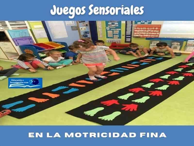 juegos sensoriales y las actividades motrices