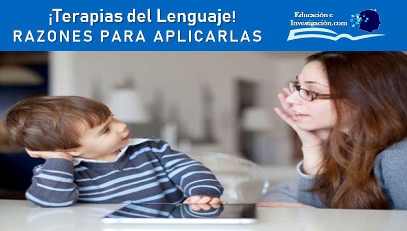 Terapias del lenguaje RAZONES PARA APLICARLAS