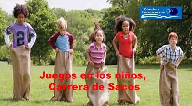 Juegos en los niños, Carreras de sacos